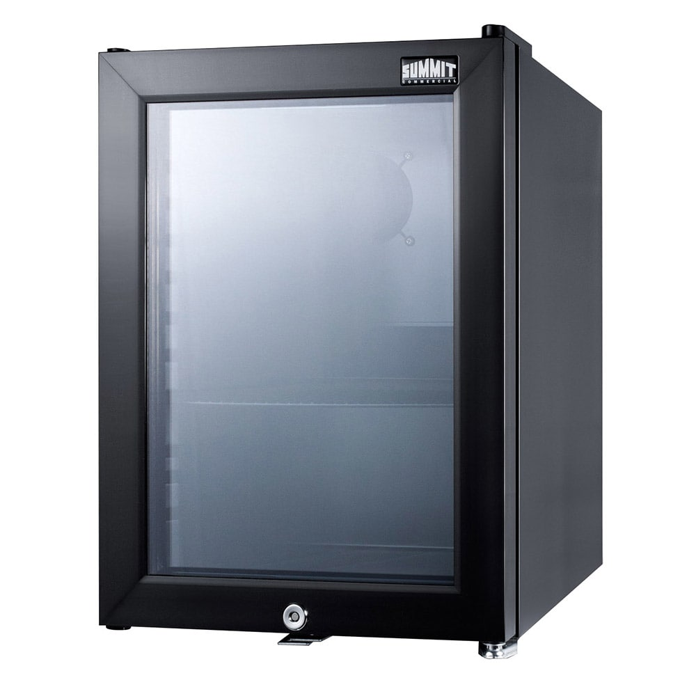 "Summit SCR114L 14"" Countertop Refrigerator w/ Front Access - Swing Door, Black, 115v"