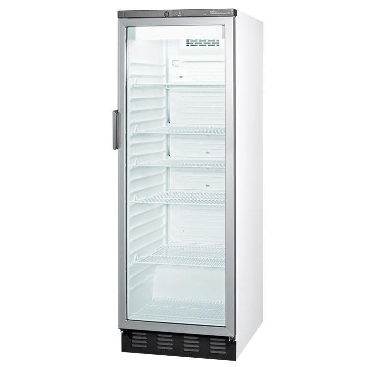 """Summit SCR1300 24"""" One-Section Glass Door Merchandiser w/ Swing Door, 115v"""