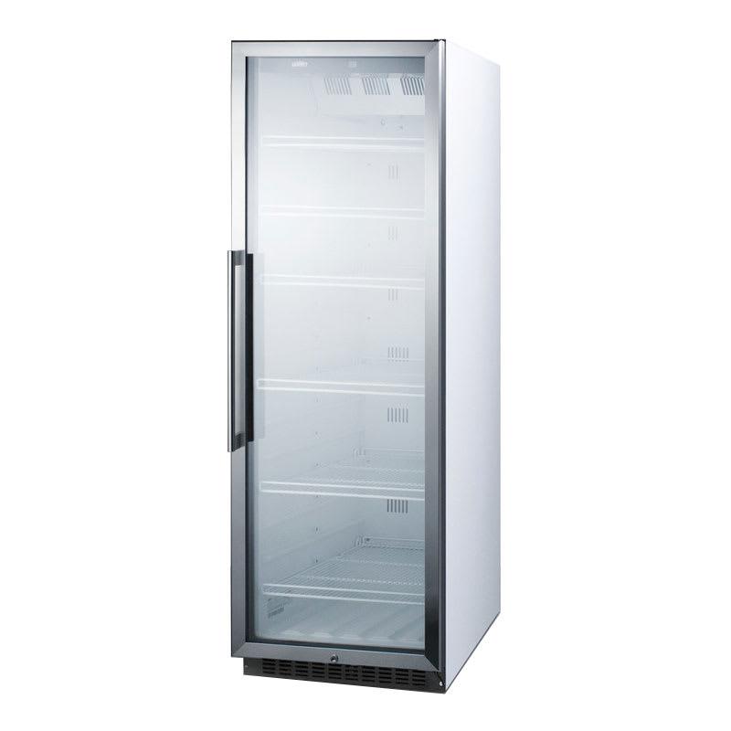 """Summit SCR1400W 24"""" One-Section Glass Door Merchandiser w/ Swing Door, 115v"""