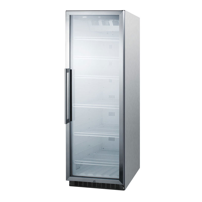 """Summit SCR1400WCSS 24"""" One-Section Refrigerated Display w/ Swing Door, Bottom Mount Compressor, 115v"""