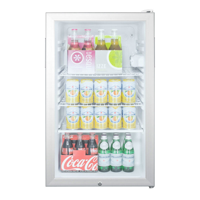 Summit SCR450L 4.1-cu ft Undercounter Refrigerator w/ (1) Section & (1) Door, 115v