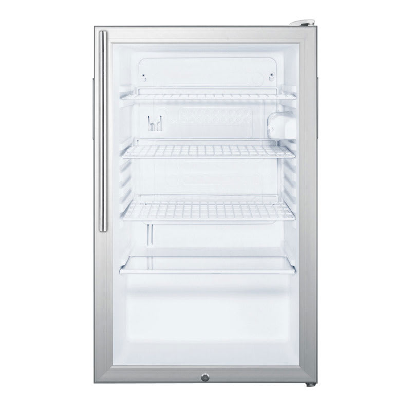 Summit SCR450L7HV 4.1 cu ft Undercounter Refrigerator w/ (1) Section & (1) Door, 115v