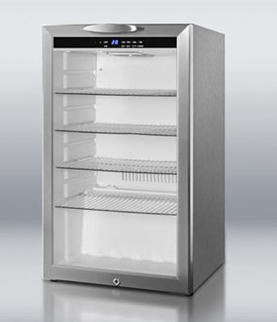"""Summit SCR485LCSS 19"""" Countertop Refrigerator w/ Front Access - Swing Door, Stainless, 115v"""