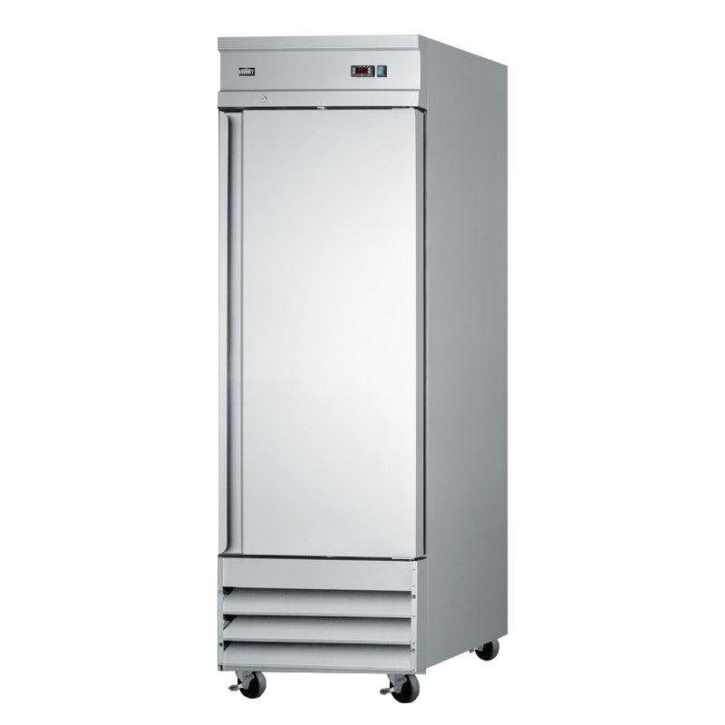 "Summit SCRR230 29"" Single Section Reach-In Refrigerator, (1) Solid Door, 115v"