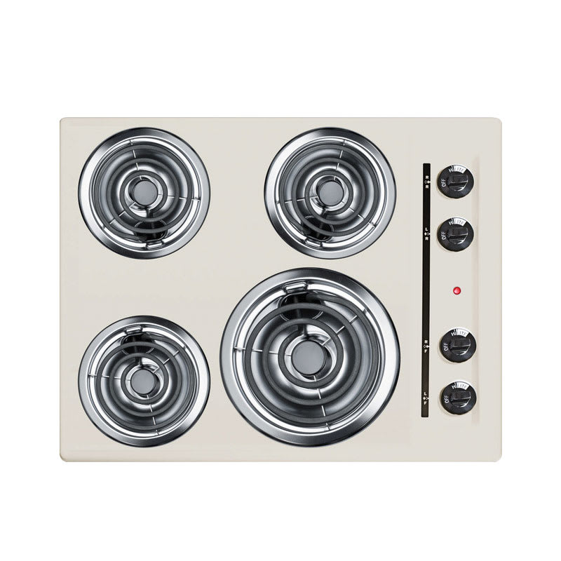 "Summit SEL03 24"" Electric Cooktop w/ (4) Coil Elements, 220v/1ph"