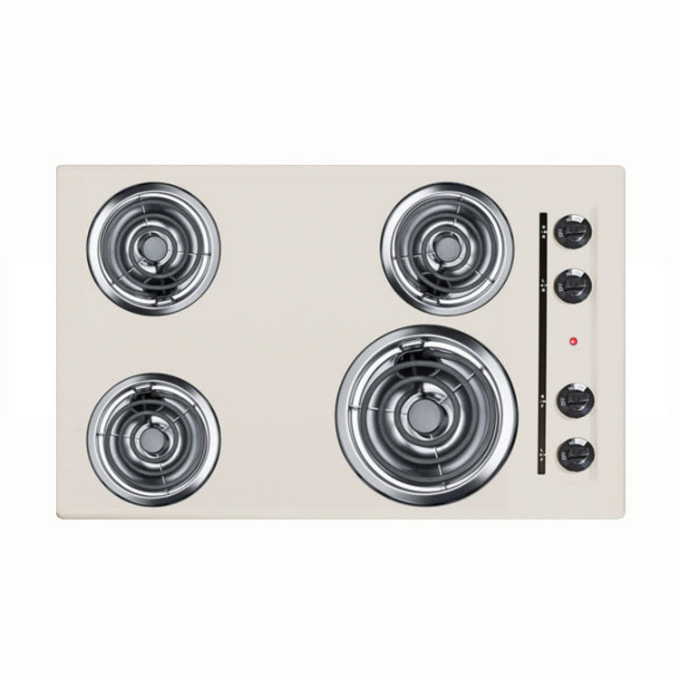 "Summit SEL05 30"" Electric Cooktop w/ (4) Coil Elements, 220v/1ph"