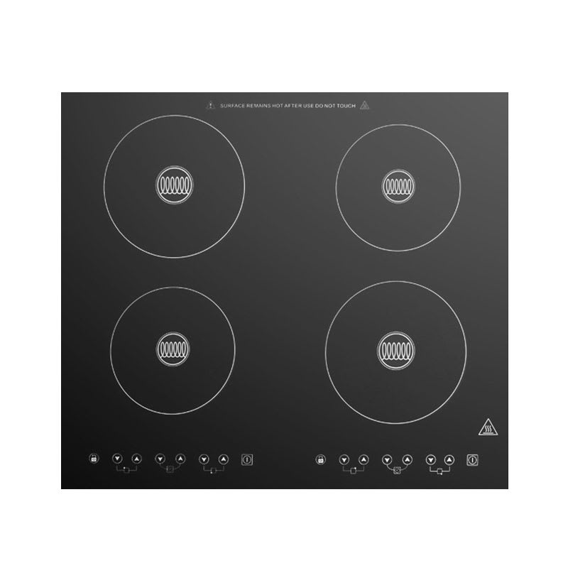 Summit SINC424220 Built In Induction Cooktop w/ 4-Zone, 8-Power Settings, Black