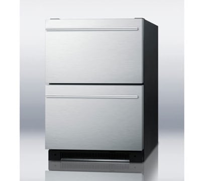 Summit SP5DS2DSSHH 5.4-cu ft Undercounter Refrigerator w/ (1) Section & (2) Drawers, 115v