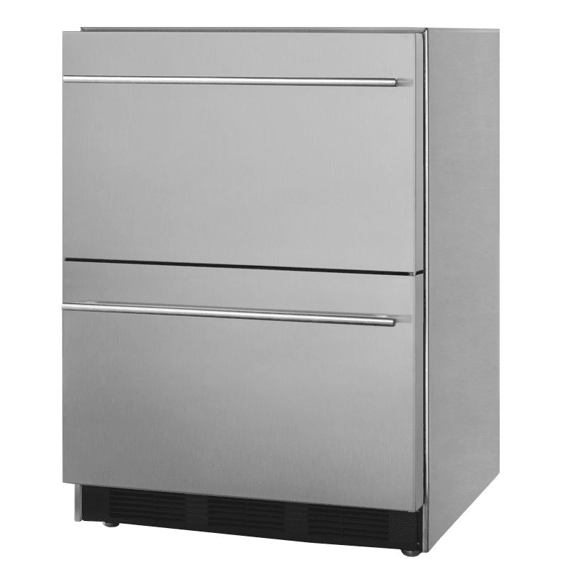 Summit SP6DS2D7 5.5 cu ft Undercounter Refrigerator w/ (1) Section & (2) Drawers, 115v
