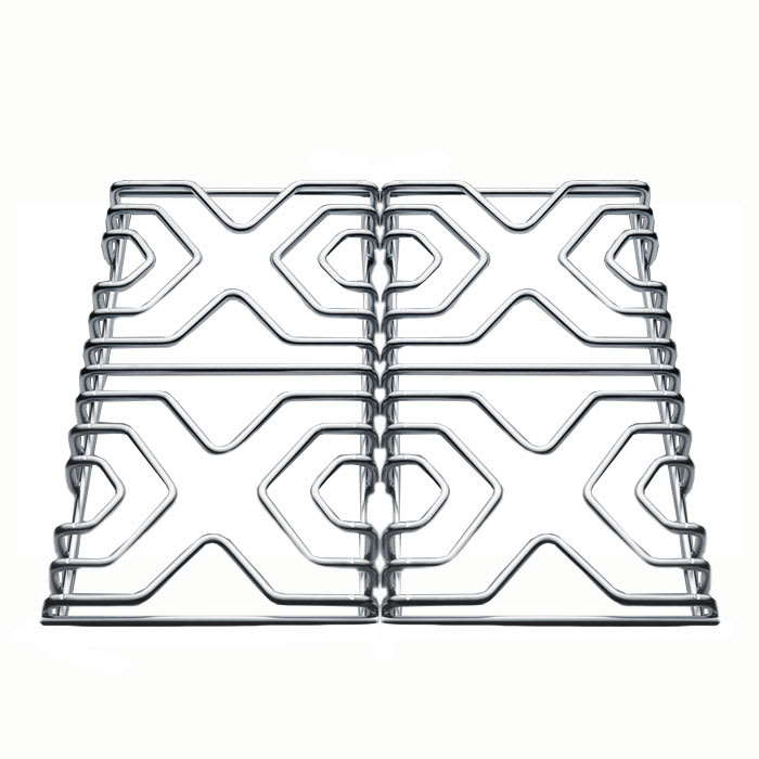 Summit SS GRATES 2 Piece Grate Set For Summit Gas Ranges, Stainless