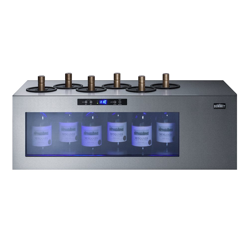 """Summit STC6 36"""" One Section Wine Cooler w/ (1) Zone - 6 Bottle Capacity, 115v"""
