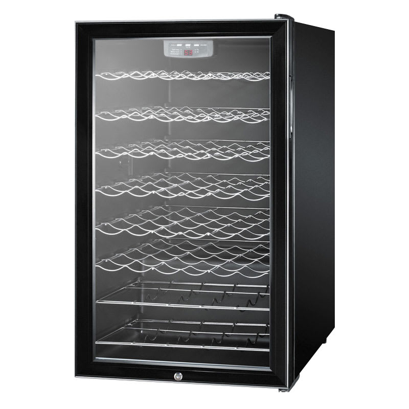 "Summit SWC525L 19"" One Section Wine Cooler w/ (1) Zone - 42-Bottle Capacity, 115v"