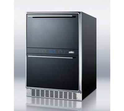 """Summit SWCD40 23.63"""" Two Section Wine Cooler w/ (2) Zone - 45-Bottle Capacity, 115v"""