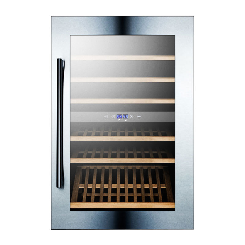 """Summit VC60D 23"""" One Section Wine Cooler w/ (2) Zone - 59 Bottle Capacity, 115v"""