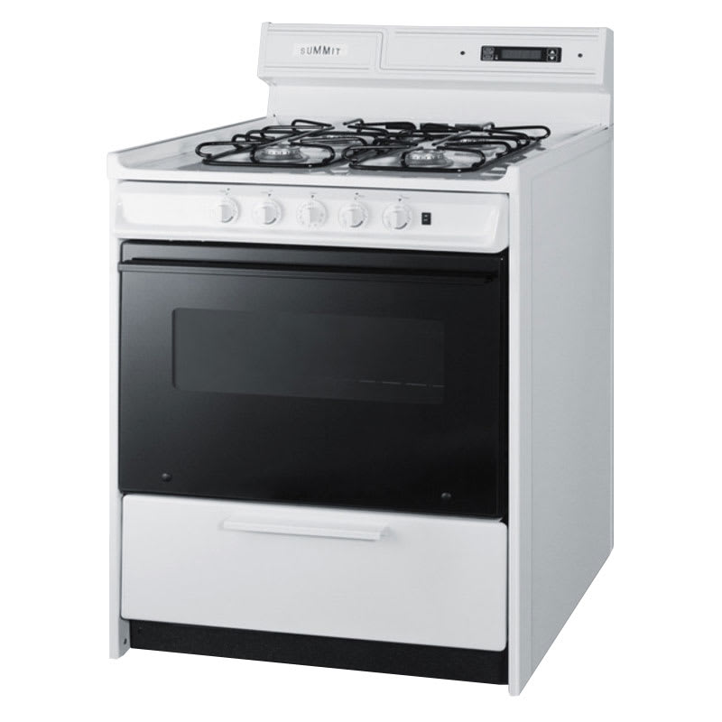 "Summit WNM2307DFK 30"" Deluxe Gas Range w/ Sealed Burners, 3.69-cu ft, NG"