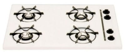 Summit WTL053 30-in Cooktop w/ Electronic Ignition & Universal Valves, 3.75x30x20-in, White