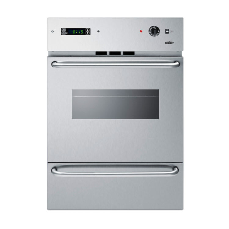 """Summit WTM7212KWSS 24"""" Gas Wall Oven - Lower Broiler, Electronic Ignition, Stainless"""