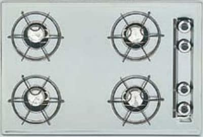 Summit ZTL033 24-in Cooktop w/ Electronic Ignition, 4-Burners & Universal Valves, Brushed Chrome