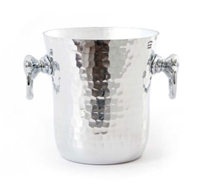 Mauviel 1602.20 15.6cm M'pure Ice Bucket with Handles - Hammered Aluminum