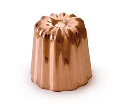 "Mauviel 4180.55 2"" Round M'passion Canele Mold w/ Tinned Interior, Copper"