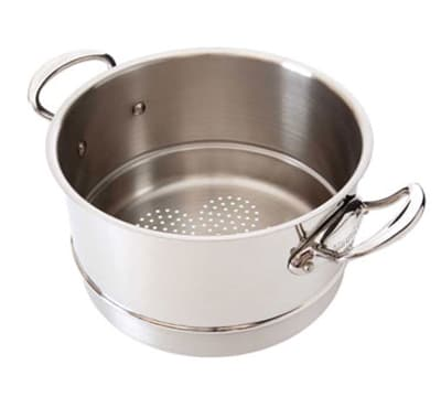 "Mauviel 5221.20 8"" Round M'cook Basket Insert for Sauce Pans, Stainless"