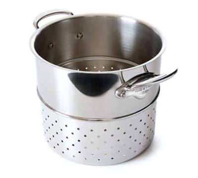 "Mauviel 5222.24 9.5"" Round M'cook Pasta Insert, Stainless"