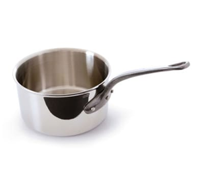 Mauviel 5610.12 9-qt Saucepan - Induction Compatible, 18/10 Stainless