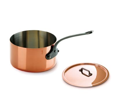 Mauviel 6410.21 3.6 qt Saucepan w/ Cover - Copper