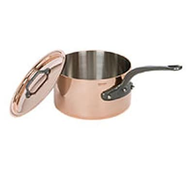 Mauviel 6501.21 3.6-qt Saucepan w/ Cover - Copper
