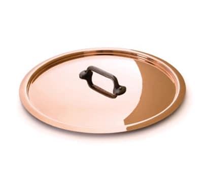 "Mauviel 6508.12 4.8"" Round M'250c Lid w/ Cast Iron Handle, Copper"