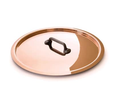 "Mauviel 6508.18 7"" Round M'250c Lid w/ Cast Iron Handle, Copper"