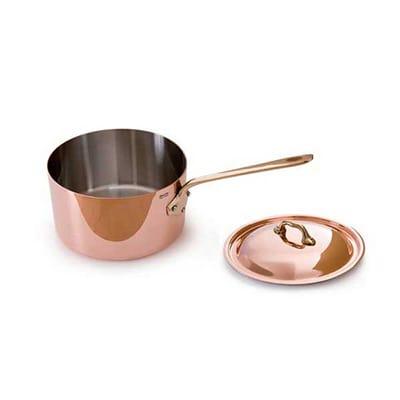 Mauviel 6520.17 1.9-qt Saucepan w/ Cover - Copper
