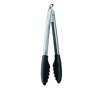 "Rosle 12926 12""L Stainless Utility Tongs, Black"