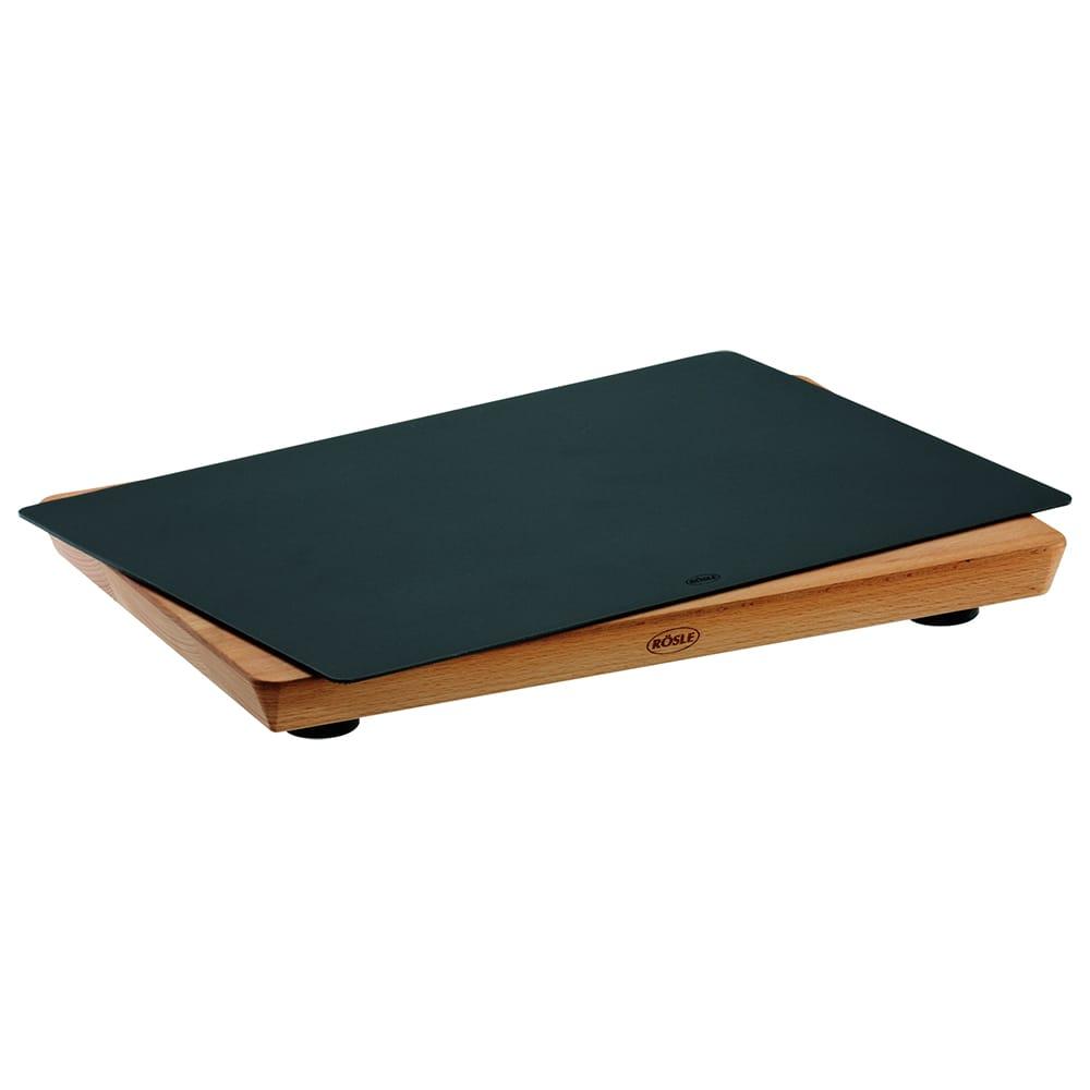 "Rosle 15000 Practical Cutting Board w/ Non Slip Rubber Feet & Layers Beech Wood, 9.8x13.8"""