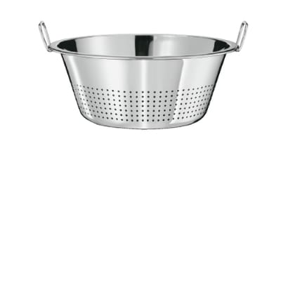 Rosle 23120 15.7-in Colander w/ Beaded Edge & 2-Side Handles, Stainless