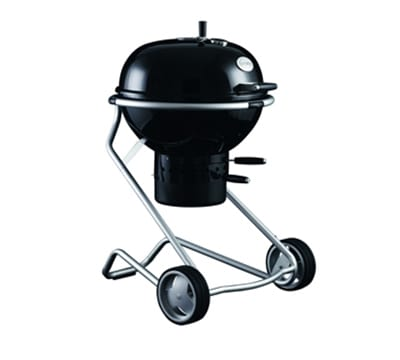 "Rosle 25004 Charcoal Kettle Grill w/ Stainless Frame, 24"" Black"