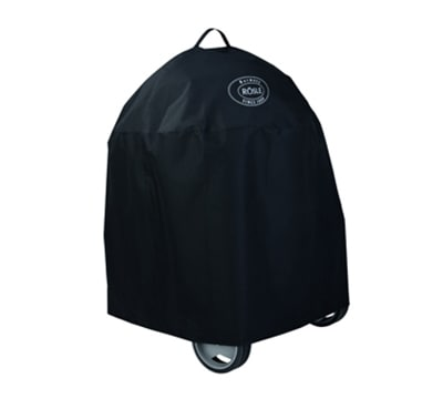 """Rosle 25021 24"""" Charcoal Kettle Grill Cover w/ Velcro Bands, Polyester, Black"""