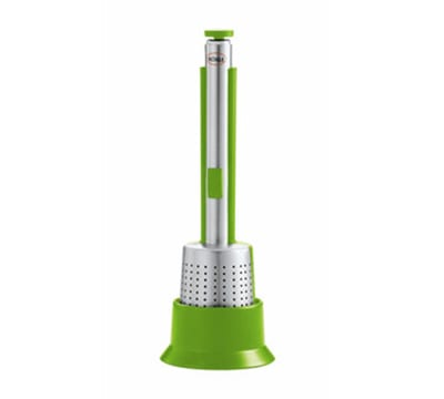 Rosle 95227 Tea Infuser w/ Press & Table Stand, Green
