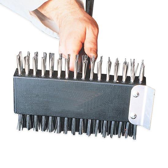 "American Metalcraft 1423 30"" Broiler Brush w/ Handle & Tempered Scraper, Stainless"