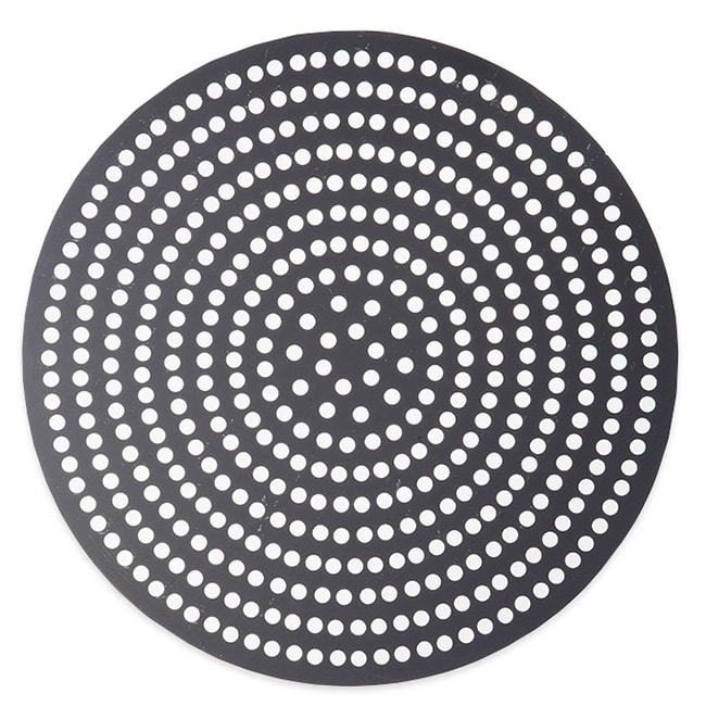 "American Metalcraft 18912SPHC 12"" Super Perforated Pizza Disk, Hardcoat, Aluminum"