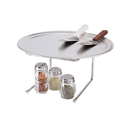 "American Metalcraft 1900312 Pizza Stand, 12x12"", Chrome/Steel"