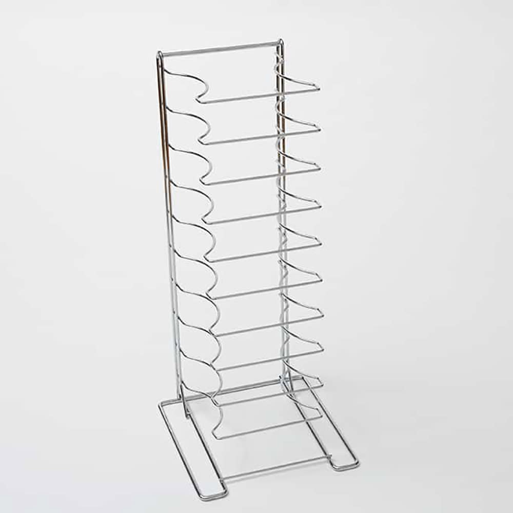 "American Metalcraft 19030 Pizza Pan Rack w/ 11 Shelf Capacity for 10"" To 17"" Pan, Chrome/Steel"