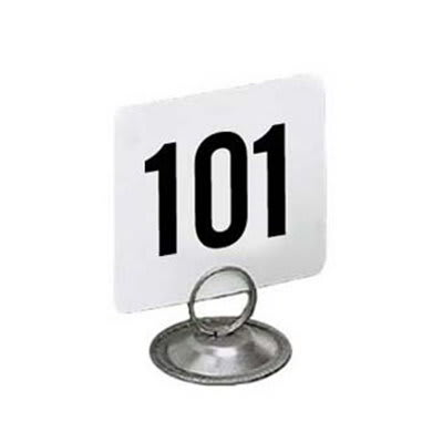American Metalcraft 2150 Table Numbers Set, 101-150, 2 in Square, White Card, Black Numbers