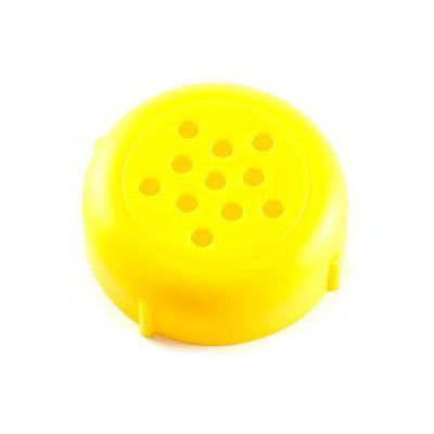 American Metalcraft 260Y Perforated Shaker Top, Polypropylene, Yellow
