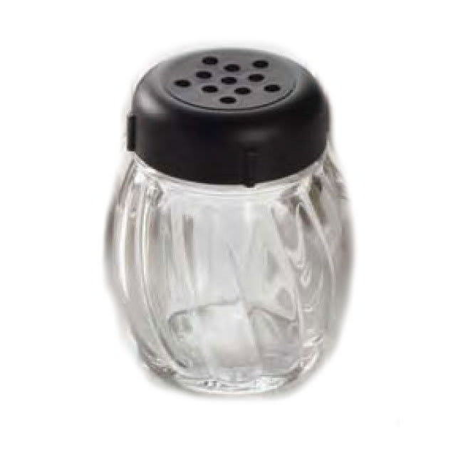 American Metalcraft 33BBP 6-oz Glass Shaker - Perforated Black Lid