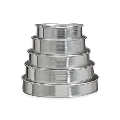 American Metalcraft 3801 5 Piece Cake Pan Set, Straight Sided, Aluminum