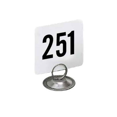 "American Metalcraft 4300 Tabletop Number Cards - #251 300, 4"" x 4"", White/Black"