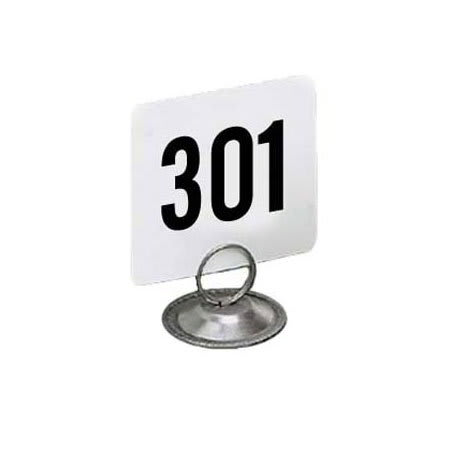 "American Metalcraft 4350 Tabletop Number Cards - #301-350, 4"" x 4"", White/Black"