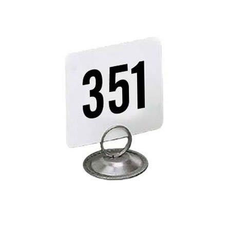 "American Metalcraft 4400 Tabletop Number Cards - #351 400, 4"" x 4"", White/Black"