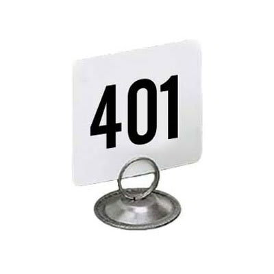 """American Metalcraft 4450-CARDS Tabletop Number Cards - #401 450, 4"""" x 4"""", White/Black"""